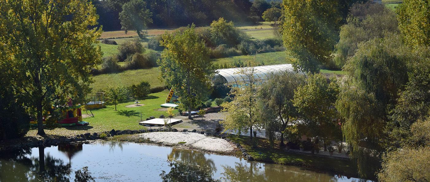 Etang de pêche du Camping Paradis Les Étangs de Plessac Brantôme Dordogne Périgord 24