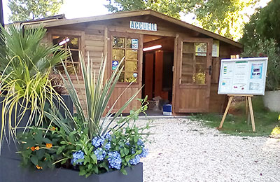 Réception du camping Les Étangs de Plessac près de Brantôme Dordogne Périgord